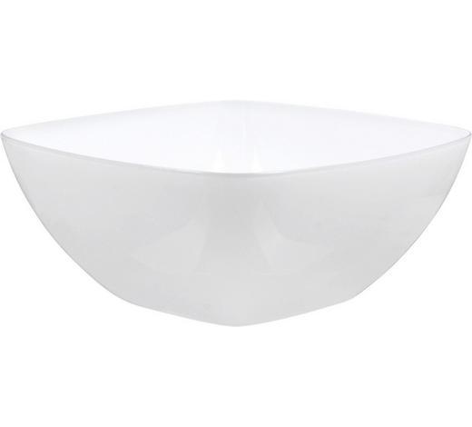 SALATSCHÜSSEL  - Weiß, Design, Kunststoff (20/20/11cm) - Emsa