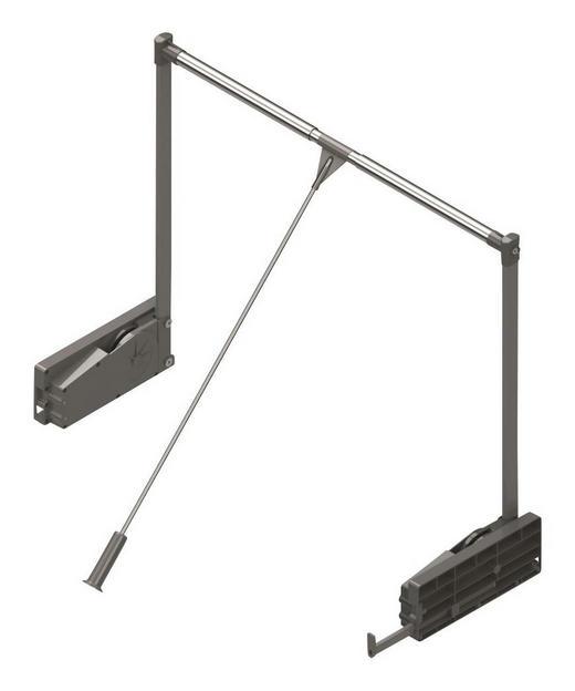 KLEIDERLIFT für 100er Elemente Alufarben - Alufarben, Basics, Metall (100cm) - Hom`in