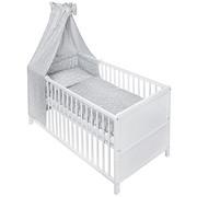 GITTERBETT-KOMPLETTSET Weiß - Hellgrau/Weiß, Basics, Textil (140/70cm) - MY BABY LOU