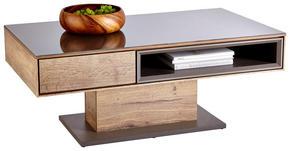 SOFFBORD - grå/ekfärgad, Design, glas/träbaserade material (115/65/44cm) - Hom`in