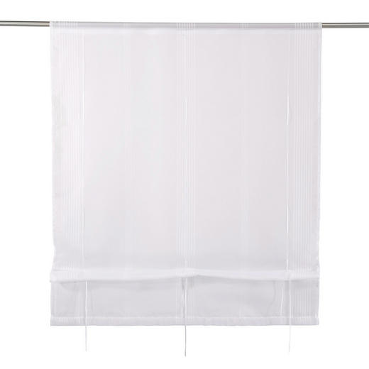 RAFFROLLO  transparent   100/130 cm - Weiß, Basics, Textil (100/130cm) - NOVEL