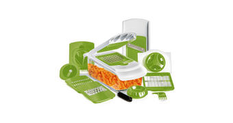 ALLESSCHNEIDER - Weiß/Grün, Basics, Kunststoff/Metall - Homeware Profession.
