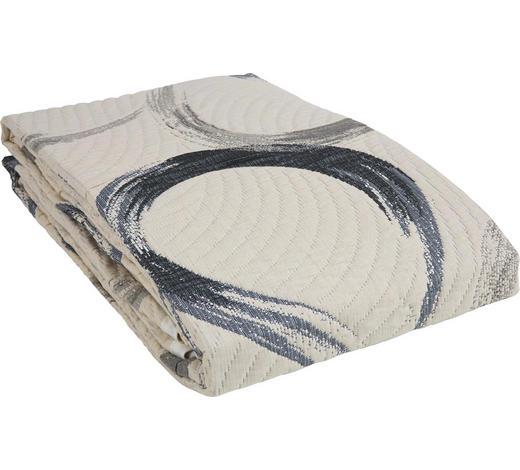 PŘEHOZ NA POSTEL, 220/240 cm, šedá - šedá, Design, textil (220/240cm) - Novel
