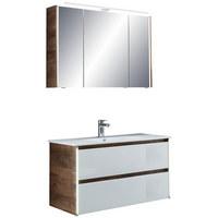 KOUPELNA - bílá, Design, kompozitní dřevo/keramika (105,5cm) - Sadena