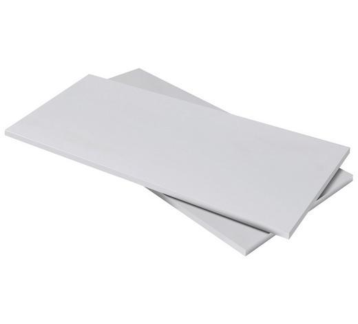 EINLEGEBODENSET Weiß  - Weiß, Design (98,6/2,2/42cm) - Carryhome