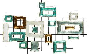 VÄGGDEKORATION - multicolor, Trend, metall (122/72,5/6cm) - Ambia Home