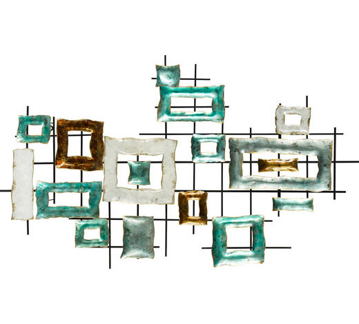WANDDEKO - Multicolor, Trend, Metall (122/72,5/6cm) - Ambia Home