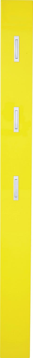 GARDEROBNI PANEL - rumena, Design, leseni material (15/170/4cm) - Xora
