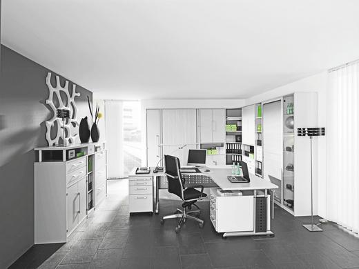 BÜRO Beimöbel erhältlich, Beleuchtung, erweiterbar, Typenauswahl, umfangreiches Zubehör erhältlich Weiß - Weiß, Design - Welnova