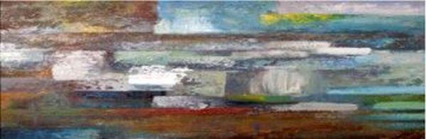 ÖLGEMÄLDE - Multicolor, Basics, Holz/Textil (150/50cm)
