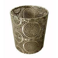 DRŽÁK NA ČAJOVOU SVÍČKU - barvy stříbra, Lifestyle, kov/sklo (13/15,5cm) - Ambia Home