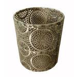 TEELICHTHALTER - Silberfarben, LIFESTYLE, Glas/Metall (13/15,5cm) - Ambia Home