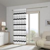 Fertigvorhang halbtransparent - Schwarz/Weiß, Konventionell, Textil (140/245cm) - Esposa