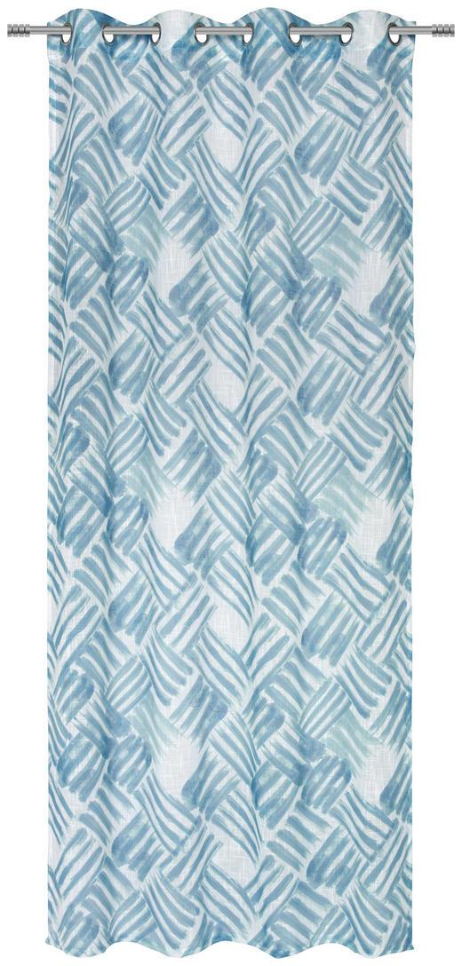 ÖSENVORHANG halbtransparent - Petrol, Design, Textil (135/245/cm) - Esposa
