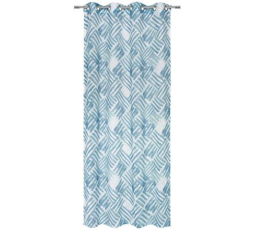 ÖSENVORHANG halbtransparent  - Petrol, Design, Textil (135/245cm) - Esposa