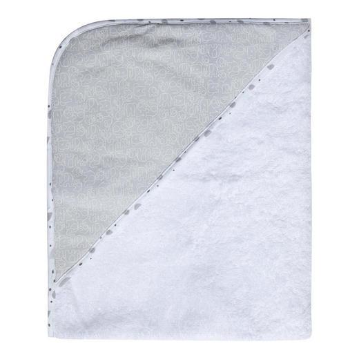 KAPUZENBADETUCH - Weiß/Grau, Basics, Textil (85/75/1cm) - Bebe Jou