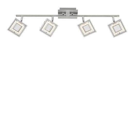 LED-STRAHLER - Nickelfarben, LIFESTYLE, Kunststoff/Metall (17,6/68,2cm) - Novel