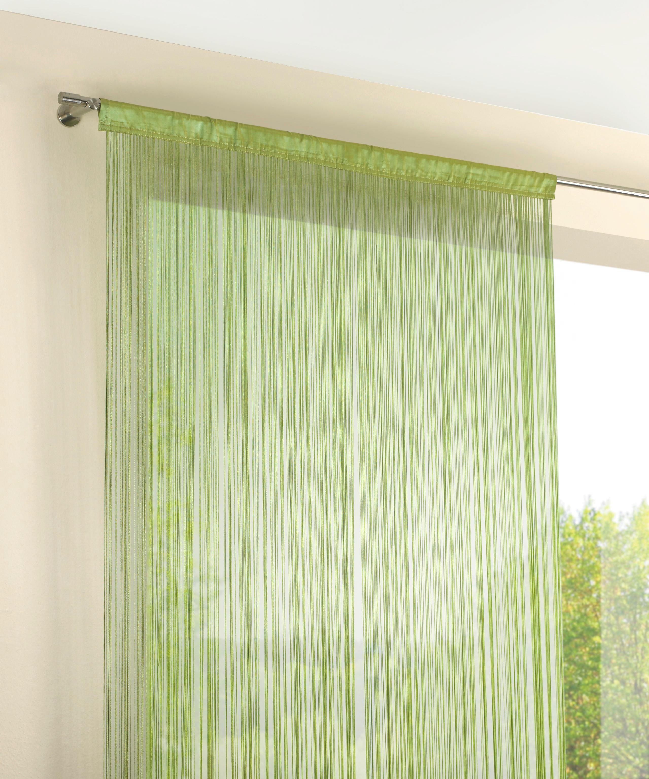 TRÅDGARDIN - grön, Klassisk, textil (90/245cm) - BOXXX