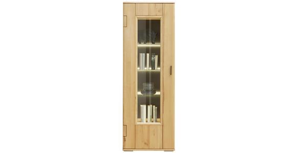 VITRINE in furniert, massiv Wildkernbuche Buchefarben  - Buchefarben, KONVENTIONELL, Glas/Holz (67/198/43cm) - Cantus