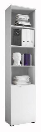 KOMODA - bijela/boje aluminija, Design, drvni materijal (50/216/35cm) - Xora