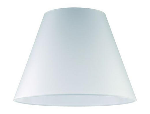LEUCHTENSCHIRM  Weiß  Kunststoff - Weiß, Basics, Kunststoff (40/28cm)