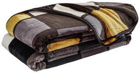 WOHNDECKE 150/200 cm Anthrazit, Gelb, Schwarz, Weiß  - Anthrazit/Gelb, Design, Textil (150/200cm) - Novel