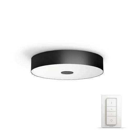 DECKENLEUC. HUE WHITE AMBIANCE - Schwarz, Design, Metall (44,4/9,8/44,4cm) - Philips