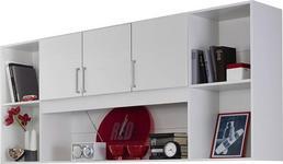 REGAL in 212/93/38 cm Weiß  - Silberfarben/Weiß, Design, Holzwerkstoff/Kunststoff (212/93/38cm) - Carryhome