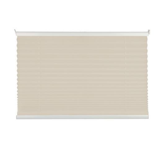 PLISSEE  halbtransparent  50/130 cm    - Sandfarben, Basics, Textil (50/130cm)