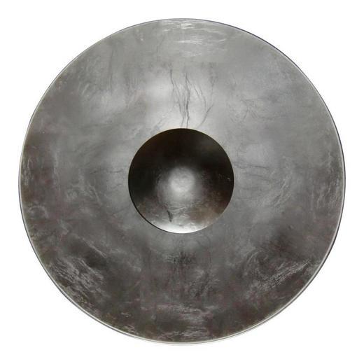 WANDLEUCHTE - Silberfarben, ROMANTIK / LANDHAUS, Metall (40/14cm)