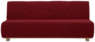 SCHLAFSOFA in Textil Rot  - Rot, Design, Holz/Textil (202/88/103cm) - Novel