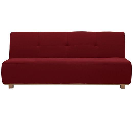 SCHLAFSOFA in Textil Rot  - Rot, Design, Holz/Textil (202/88/103cm) - Novel