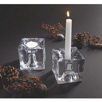 KERZENHALTER - Klar, Basics, Glas (8/9/8cm) - Leonardo