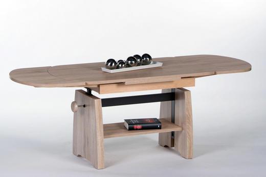 COUCHTISCH Eichefarben - Eichefarben, Design (112-165/57-73/60cm) - Carryhome