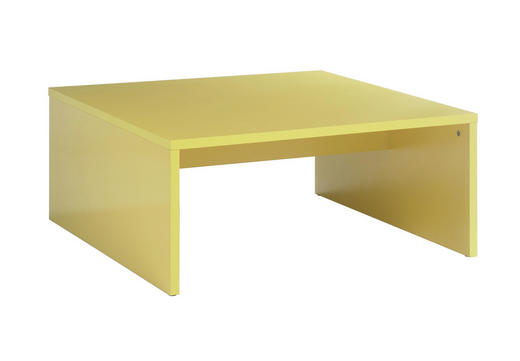 COUCHTISCH quadratisch Gelb - Gelb, Design, Holzwerkstoff (81/36/81cm) - CARRYHOME