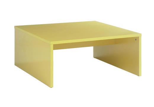 COUCHTISCH quadratisch Gelb - Gelb, MODERN, Holzwerkstoff (81/36/81cm) - CARRYHOME