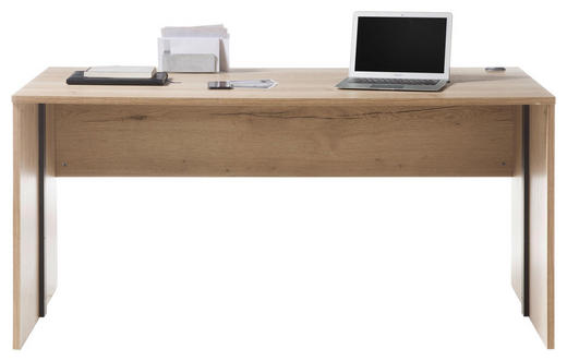 SCHREIBTISCH - Eichefarben, Design, Holzwerkstoff (160/76/80cm) - Xora