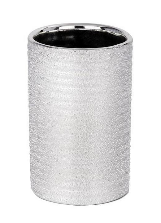 ZAHNPUTZBECHER - Silberfarben, Basics, Keramik (7,5/11,2cm)