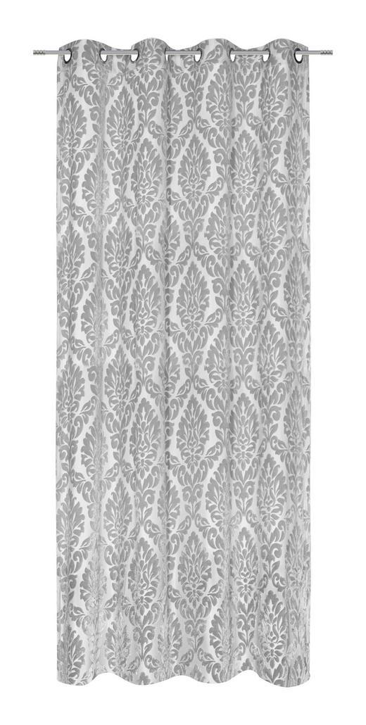 ÖSENSCHAL  blickdicht  140/245 cm - Grau, Design, Textil (140/245cm) - Esposa