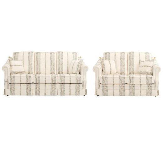 SITZGARNITUR in Textil Beige  - Beige/Schwarz, LIFESTYLE, Kunststoff/Textil (196/89/92cm) - Elegando