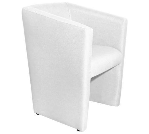 SESSEL in Textil Weiß - Weiß, Design, Kunststoff/Textil (58/72/52cm) - Hom`in