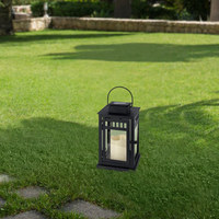 SOLARLEUCHTE - Schwarz, Design, Glas/Kunststoff (15/26cm) - Ambia Garden