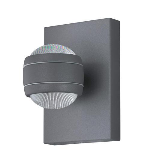 AUßENLEUCHTE Silberfarben - Silberfarben, Basics, Kunststoff/Metall (13cm)