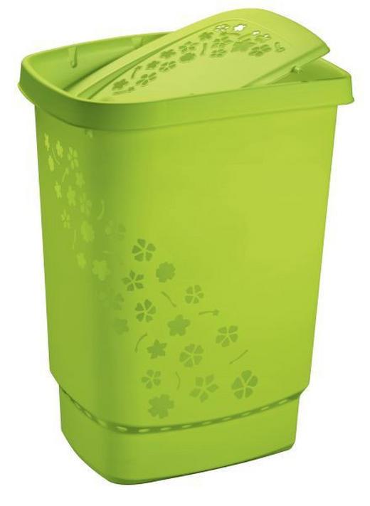 WÄSCHETONNE - Grün, Basics, Kunststoff (44.7/34.7/60.4cm)