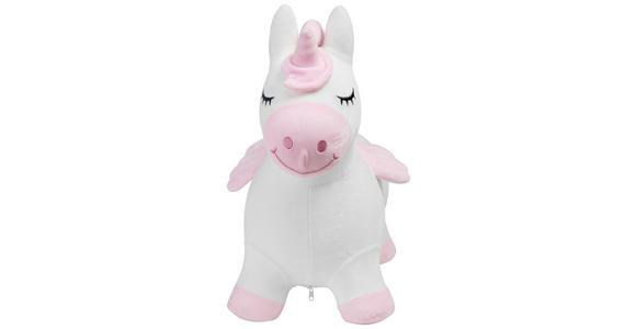 HÜPFTIER - Pink/Weiß, Basics, Kunststoff/Textil (58/28/57cm) - My Baby Lou