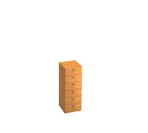 KOMMODE 40/110/42 cm - Buchefarben/Alufarben, KONVENTIONELL, Holzwerkstoff/Metall (40/110/42cm)