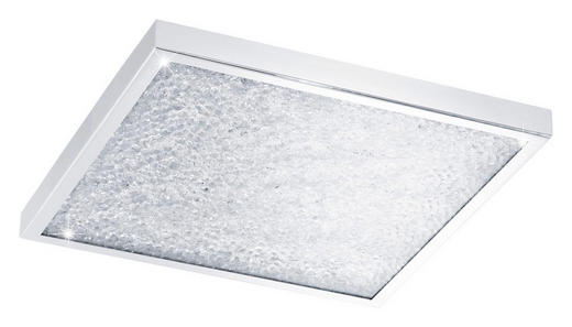 LED-PANEEL - Chromfarben/Klar, Design, Glas/Metall (44/44/5,5cm)