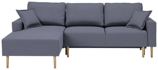 WOHNLANDSCHAFT in Textil Blau - Blau/Buchefarben, Design, Holz/Textil (146/223cm) - Xora