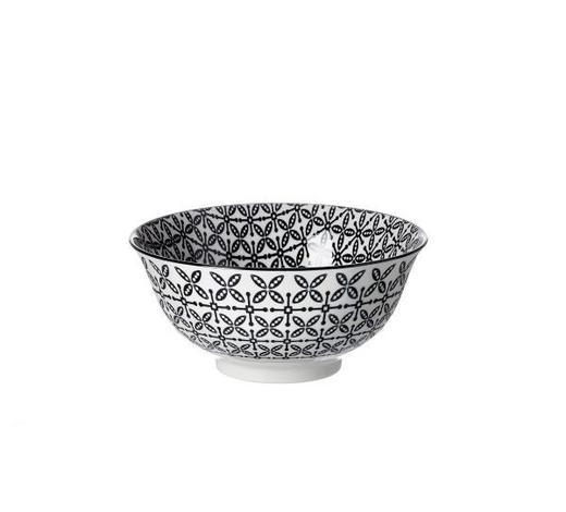 MÜSLISCHALE 15,5 cm  - Schwarz/Weiß, Trend, Keramik (15,5cm) - Ritzenhoff Breker