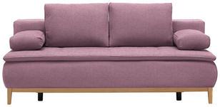 BOXSPRINGSOFA in Textil Rosa  - Eichefarben/Beige, MODERN, Holz/Textil (202/78/93/100cm) - Venda